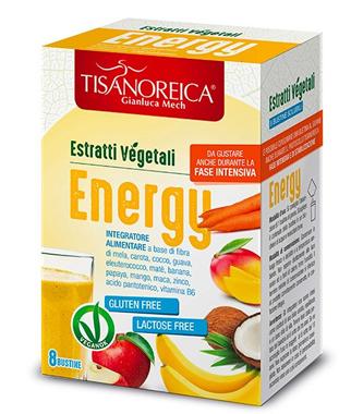 TISANOREICA ESTRATTO VEGETALE ENERGY 8 BUSTINE 5 G