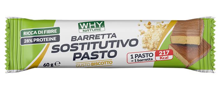 WHYNATURE BARRETTA SOSTITUTIVA PASTO BISCOTTO RICOPERTA CIOCCOLATO AL LATTE 60 G