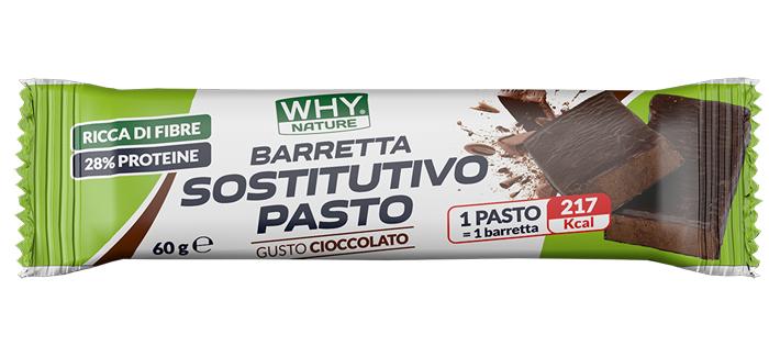 WHYNATURE BARRETTA SOSTITUTIVA PASTO CIOCCOLATO RICOPERTA FONDENTE 60 G